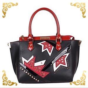 ●Asymmetrical Color Block Tote Bag ●